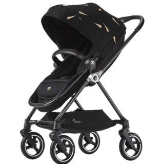 gb 好孩子 swan天鹅高景观碳纤维婴儿推车双向遛娃360旋转轻便轻奢 金羽天鹅GB826-A-R288(坐蔸睡篮二合一)