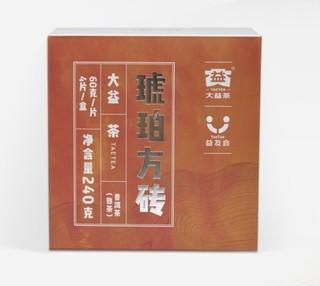 京东PLUS会员 : TAETEA 大益 普洱茶 熟茶 茶叶 砖茶 琥珀方砖     240g
