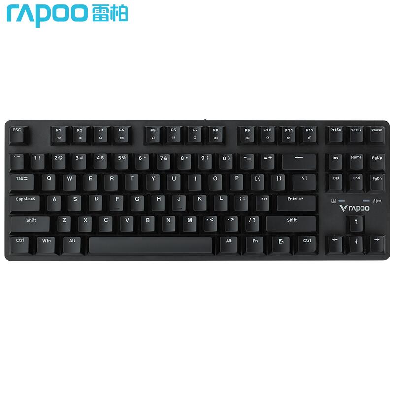 RAPOO 雷柏 V500PRO 87键 无线版 机械键盘 黑轴