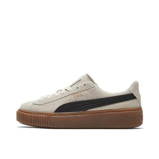 PUMA 彪马 Suede Platform Rihana 女子运动板鞋 363559-01 米白色/黑色 36
