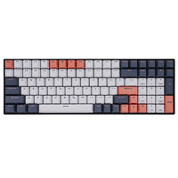 ROYAL KLUDGE RK100 三模机械键盘 100键 茶轴 黑色