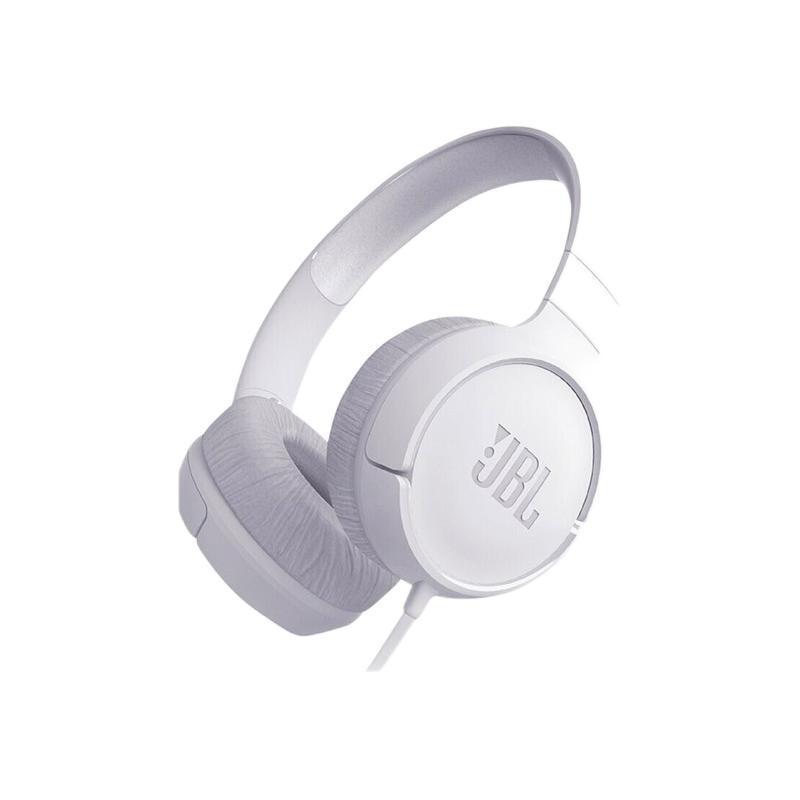 JBL 杰宝 TUNE500 耳罩式头戴式有线耳机 象牙白 3.5mm
