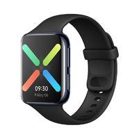 OPPO Watch eSIM智能手表 46mm 曜黑 铝合金 黑色橡胶表带(GPS、北斗、NFC)