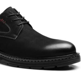 sinmec 男士休闲皮鞋 C2MB91920 磨砂款 黑色 39