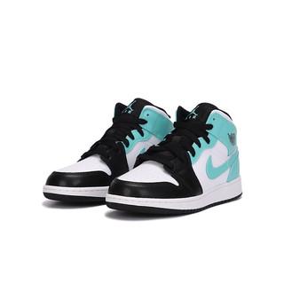 AIR JORDAN 正代系列 Air Jordan 1 MID 男子篮球鞋 554724-132 蒂芙尼绿 40.5
