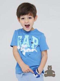 Gap 盖璞 布莱纳系列 徽标LOGO童趣圆领短袖T恤