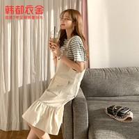 HSTYLE 韩都衣舍 HO0262 女士条纹两件套装