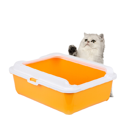 YITO 中号猫砂盆 颜色随机带盖+带铲