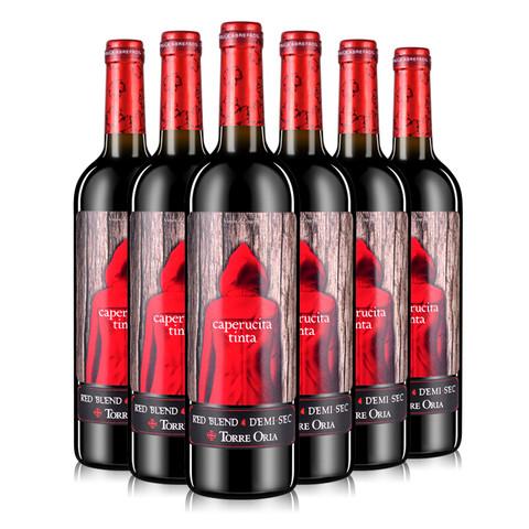 Torre Oria 奥兰 小红帽半甜红葡萄酒 750ml*6瓶