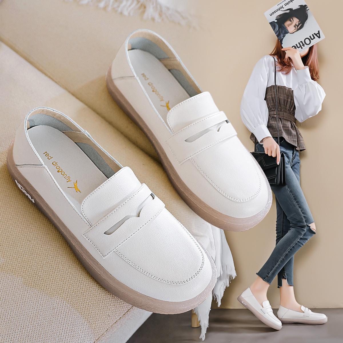 RED DRAGONFLY 红蜻蜓 JJ21128101063 女士纯色百搭单鞋