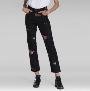 Levi's 李维斯 x STAR WARS联名 501系列 女士高腰七分牛仔裤