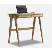 31日0点:治木工坊 FSDC-06 榉木双抽书桌 80*50*75cm