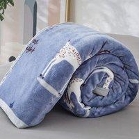 BEYOND 博洋 双面法莱绒毯被子 120*150cm