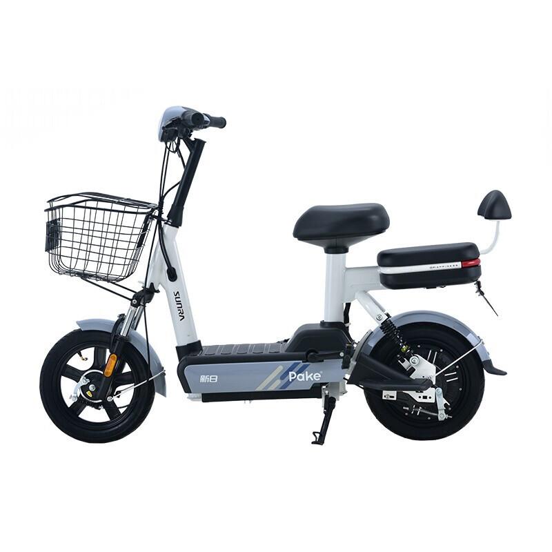 SUNRA 新日 小派克 电动自行车 TDT4580Z 48V12AH铅酸电池 燕尾灰 青春版