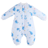 Elepbaby 象宝宝 婴儿纱布薄棉分腿睡袋 海底奇光 M码