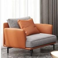 AQUIMIA 意式轻奢异型布艺沙发 单人位