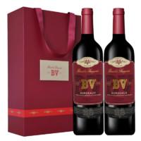 璞立酒庄 BV红酒 Beaulieu Vineyard 波尔多混酿红葡萄酒 750mL*2瓶
