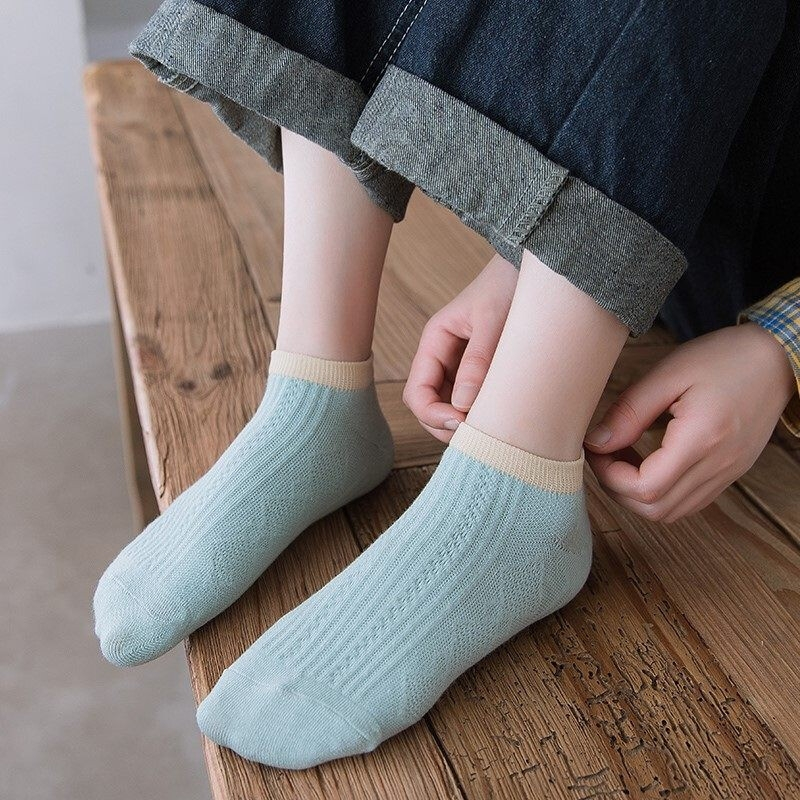 YUZHAOLIN 俞兆林 女士纯棉短袜 5双