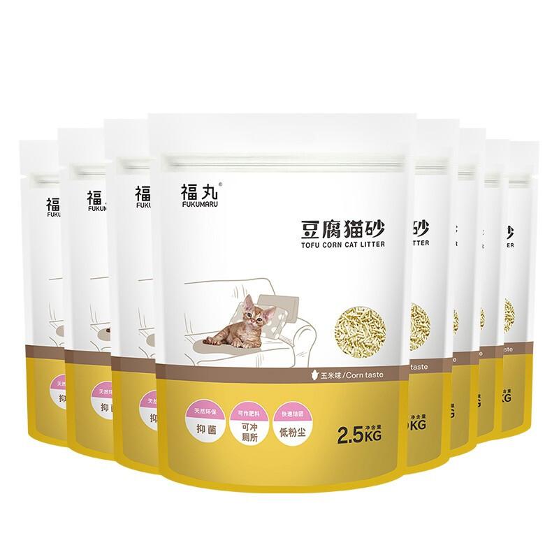 FUWAN 福丸 豆腐猫砂 玉米2.5kg*8