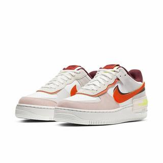 NIKE 耐克 Air Force 1 Shadow 女子运动板鞋 CU8591-600 白橙粉 38