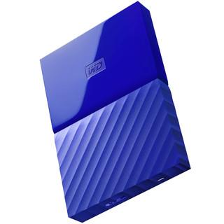 Western Digital 西部数据 My Passport系列 2.5英寸 移动机械硬盘 1TB USB 3.0 贵族蓝