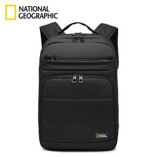 NATIONAL GEOGRAPHIC 国家地理 黑科技减震神器 双肩包15.6英寸电脑包商务休闲背包大容量防泼水书包 黑色