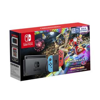 Nintendo 任天堂 国行 Switch游戏主机 续航增强版 红蓝 《马力欧赛车8》套装