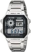 CASIO 卡西欧 AE1200WHD-1A 男士石英数字手表