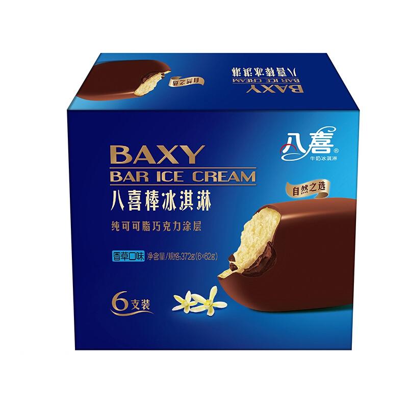 限地区、PLUS会员 : BAXY 八喜 巧克力脆皮八喜棒 香草口味 62g*6支