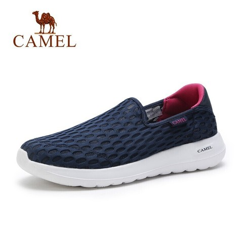 CAMEL 骆驼 男鞋2021夏季新款鞋子网鞋网面鞋透气网布旅游休闲鞋  浅灰 42