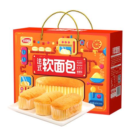 达利园 软面包香橙味 600g