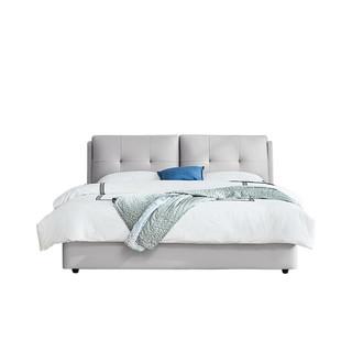 QM 曲美家居 灰蓝色箱体床 1.8m床