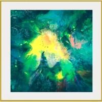 buybuyART 买买艺术 王唐糖《梦中奇幻森林》艺术版画抽象梦幻客厅装饰画玄关壁画 银色框 画框尺寸50*50cm
