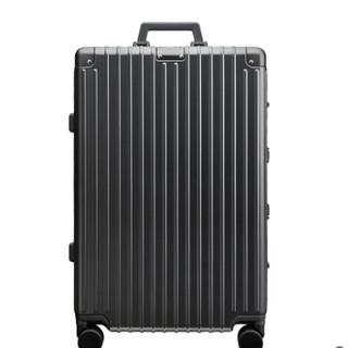 淘宝心选 竖条纹铝框升级版行李箱 20寸