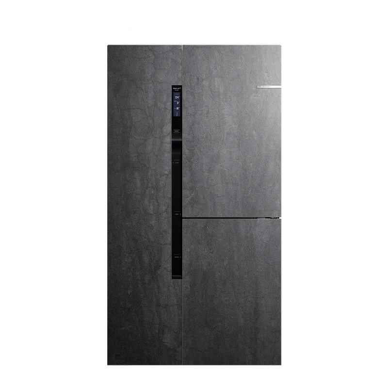 BOSCH 博世 569升高端岩瓷面板对开三门大容量冰箱 维他保鲜 多段控温 速冻无霜 KAF96P90TI