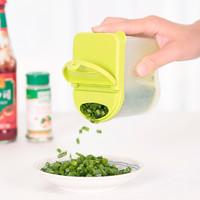 日本LEC冰箱葱花盒葱姜配料收纳盒沥水盒塑料盒子家用翻盖保鲜盒 绿色