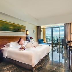 暑假不加价!三亚湾胜意大酒店180°海景套房1晚 含早餐+蜜月布置