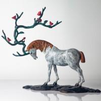 陈灵平《又见桃花源》Q版 24*24*12cm 青铜雕塑可爱动物 限量99版