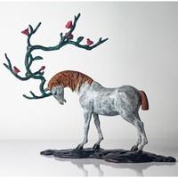 ARTMORN 墨斗鱼艺术 陈灵平《又见桃花源》Q版 24*24*12cm 青铜雕塑可爱动物