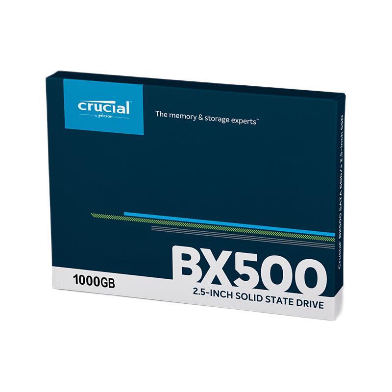 27日0点、学生专享 : Crucial 英睿达 BX500系列 固态硬盘 1TB