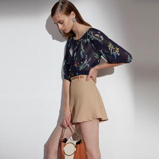 ochirly 欧时力 1ZY2012490 女士雪纺衬衫