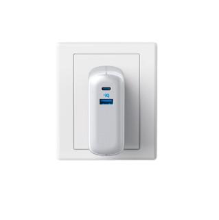 Anker 安克 A1623 移动电源 白 9700mAh micro usb 20W快充 10000mAh 1.8m数据线