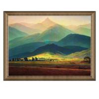 卡斯帕.大卫.弗里徳里希 油画《巨人山》 73×56cm 典雅栗(偏金色)油画布