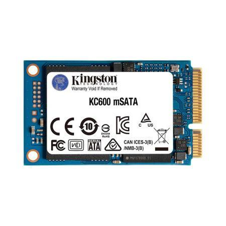 Kingston 金士顿 KC600 mSATA 固态硬盘 512GB (SATA3.0)