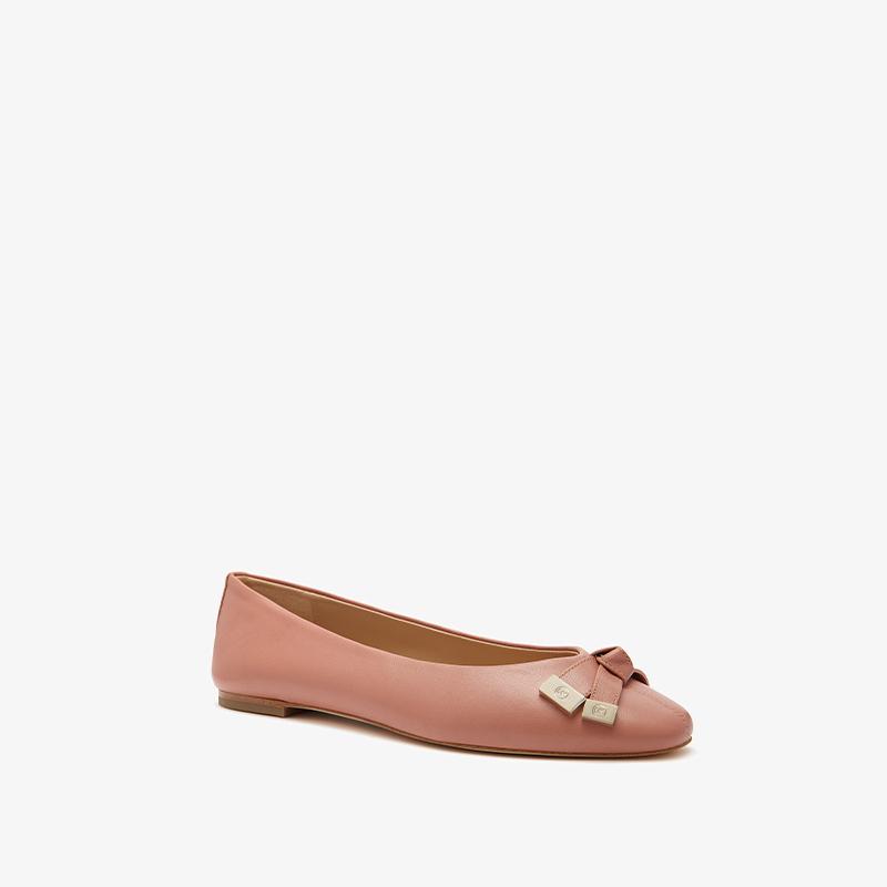 MICHAEL KORS 迈克·科尔斯 40F0RIFP2L860 女士蝴蝶结装饰羊皮芭蕾平底鞋