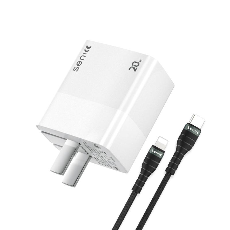 SENICC 声丽 PA300 PD 20W  充电器 + 20W 数据线