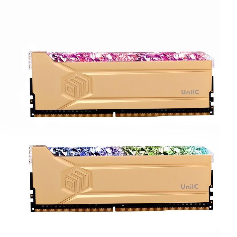 琉璃黄金斩系列 DDR4 3600Hz RGB内存条 32GB(16GB×2)