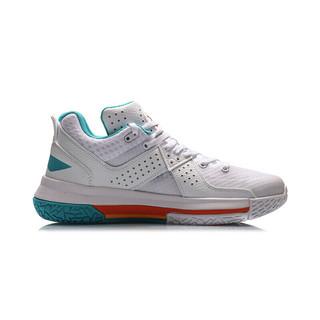 LI-NING 李宁 全城 5 男子篮球鞋 ABAP129-6 标准白 41