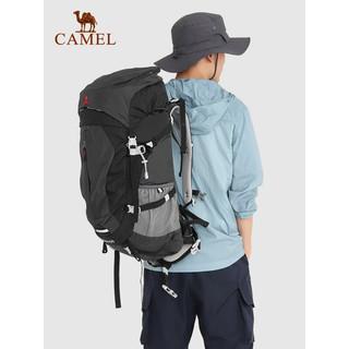CAMEL 骆驼 户外专业登山包男女大容量背包超大防水旅行双肩包徒步旅游包 LTA0W3WD108,墨绿 60升