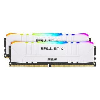 京东PLUS会员 : Crucial 英睿达 铂胜系列 DDR4 3200MHz RGB 台式机内存条 16GB(8GBx2)白色